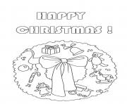 Printable gift wreath free s for christmase614 coloring pages