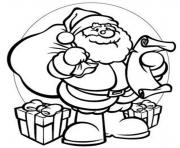Printable gifts santa 944b coloring pages