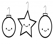 Printable simple printable s christmas ornament7dba coloring pages