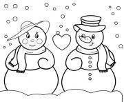 Printable free christmas s snowman09be coloring pages