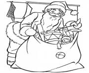 Printable santa preparing gifts christmas s printable020f coloring pages