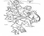 Printable free christmas elf s3176 coloring pages