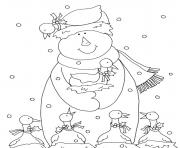 Printable snowman s christmasd325 coloring pages