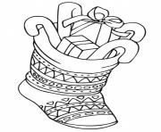 printable s christmas stocking with presentsba7f coloring pages