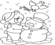 snowman winter free christmas s for kidsc83e coloring pages