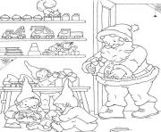 coloring pages of santa and elves preparing the christmas presentsf71b