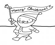 Printable santa say merry christmas s for kids2cc8 coloring pages