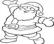 Printable happy santa free s for christmas1821 coloring pages