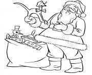 Printable coloring pages of santa play with toysfe1e coloring pages