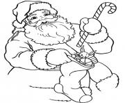 Printable coloring pages of santa holding a sticke328 coloring pages