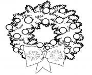 Printable pretty wreath free s for christmas09f8 coloring pages