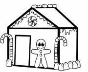Printable christmas gingerbread house s4781 coloring pages