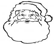 face of santa claus s freee02a coloring pages