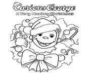 christmas curious george sae99 coloring pages