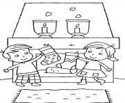 kids christmas stocking saf25 coloring pages