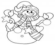 Printable snowman christmas s for kidsaadf coloring pages