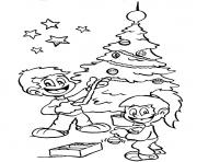decorating tree s for christmas kids253e coloring pages