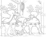 family of reindeer free coloring christmas pages34bf
