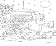 Printable coloring pages of santa claus doing his job76d8 coloring pages