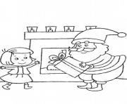 christmas s santa delivering gift for little girl84e1 coloring pages