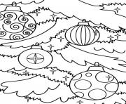 coloring pages christmas tree ornaments1531