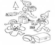 christmas elf s31f3 coloring pages