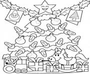 presents under tree free s for christmasf929 coloring pages