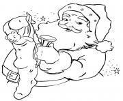 stocking present santa claus s0359 coloring pages