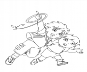 dora diego s printf106 coloring pages