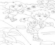 dora diego s freee437 coloring pages