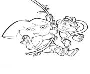 swinging boots and dora s to printe4a0 coloring pages