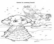 dora and santa free s for christmas287f coloring pages