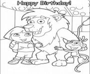 happy birthday s dora20b9 coloring pages