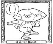 Printable dora quiet alphabet s0227 coloring pages
