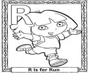 run free alphabet s dora869a coloring pages