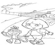 boots and dora s to print95a2 coloring pages