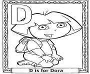 d for dora cartoon printable alphabet scab2 coloring pages