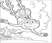 happy swinging boots of dora s to printf877 coloring pages