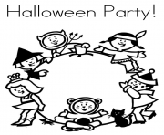 halloween  party7ea3 coloring pages