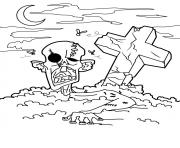Print zombie free halloween s freee57c coloring pages