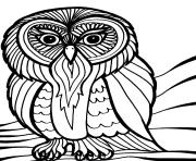 Print scary halloween owl s8616 coloring pages