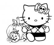 halloween  hello kitty9356 coloring pages