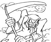 Print scary halloween s grim reaper1c06 coloring pages