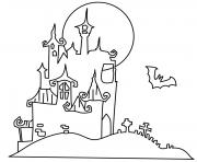 Print coloring pages printable halloween haunted houseea30 coloring pages