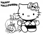 hello kity halloween pumpkin s for preschool0218 coloring pages