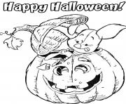 piglet halloween disney pumpkin 593d coloring pages