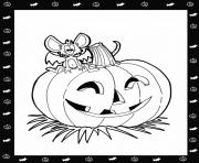 pumpkin and mouse halloween s to print out for free7aa4 coloring pages