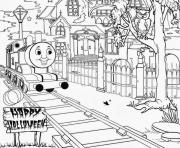 haunted thomas the train halloween s25f6 coloring pages