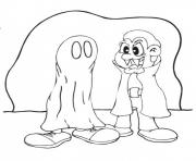 Print halloween s dracula and ghost costume129b coloring pages