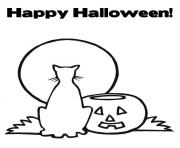happy halloween s printable cat and pumpkinde2c coloring pages